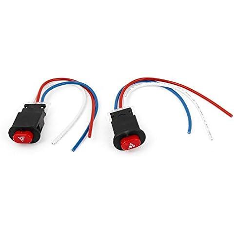 Motocicleta 3 interruptor de botón Salida del controlador con conexión de cable de riesgo ligero Flasher 2