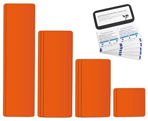 Preisvergleich Produktbild Tape selbstklebendes Planen Reparatur Pflaster Set Easy Patch comfort 100 - 10 Teile - reinorange RAL 2004