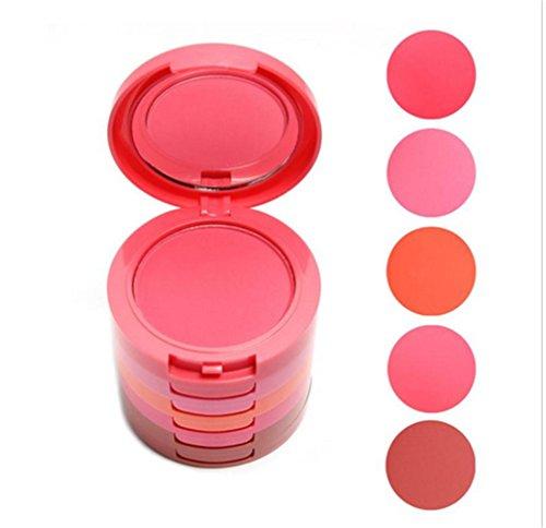 Pure Vie® 5 Colores Cara Polvos Coloretes / Blush Paleta de Maquillaje Cosmética #1 - Perfecto para Sso Profesional y Diario