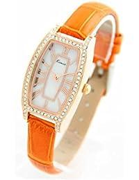 Eyki Femme MONTRE1741 - Reloj , correa de cuero color naranja