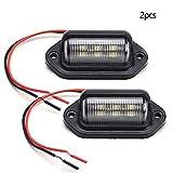 Pinzhi 2 STÜCKE Kennzeichenbeleuchtung Universal 6-SMD LED Nummernschild Tag Licht Lampen Für Lkw SUV Anhänger Van