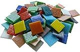 Fliesenhandel Fundus 1kg Mosaiksteine 2x2 cm Mix bunt Glasmosaik ca 320 Stück