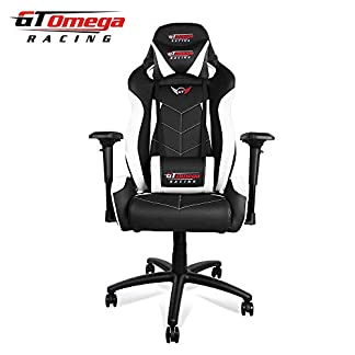 GT OMEGA Elite Racing – Silla de Oficina (Piel), Color Blanco