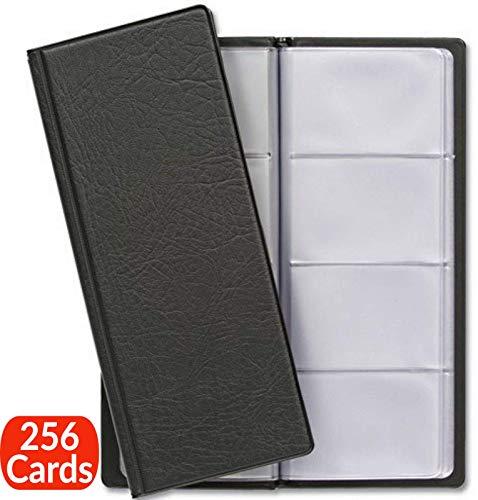 Visitenkartenmappe für 256 Karten | Visitenkarten Aufbewahrung | Platzsparend mit Übersichtliche Kartenhüllen | Visitenkartenbuch für Büro (Buch-halter Karte)