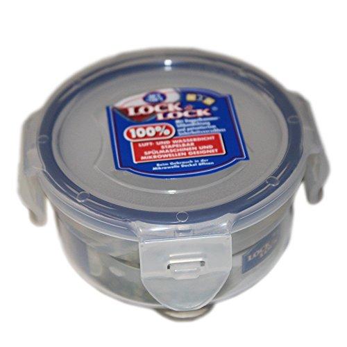 Behälter Lagerung Türkis (Lock & Lock Frischhaltedose, Vorratsbox, Vorratsdose, 100 ml rund Ø 89 x 68 mm, Kunststoff transparent)