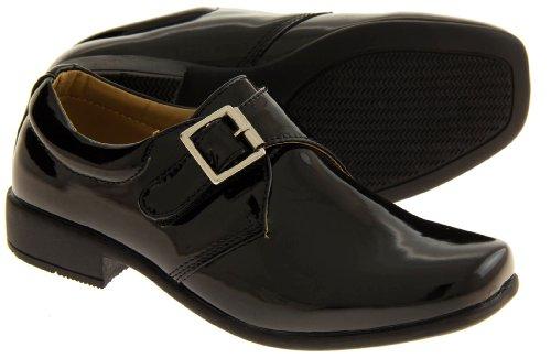Rsb Monk Cuir Verni Synthétique Chaussures Formelles Garçons Noir (brevet/brillant)