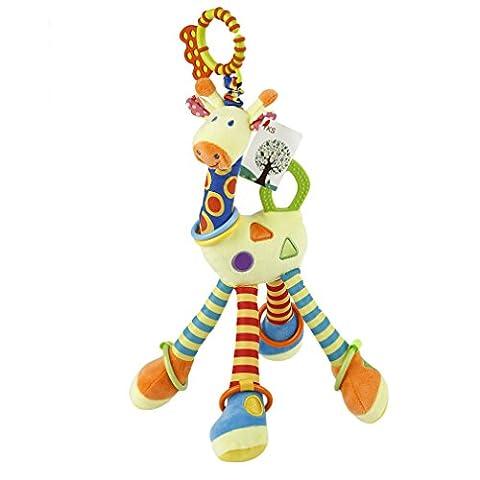 ACEHE Kinderwagen Spielzeug Kleinkindspielzeug Spielzeugauto Niedlichen Baby Giraffe Spieltier Baby-Autositz-Spielzeug Plüschtieren - ab 0 (Pferd Neugeborene Krippe)