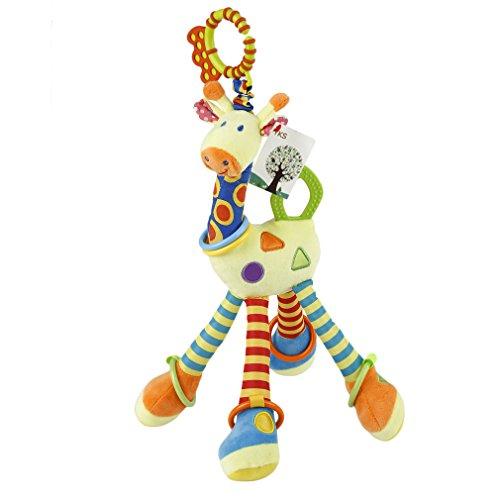 ACEHE Kinderwagen Spielzeug Kleinkindspielzeug Spielzeugauto Niedlichen Baby Giraffe Spieltier Baby-Autositz-Spielzeug Plüschtieren - ab 0 Monate