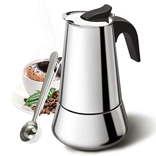 YIQIAODS 6 tazas (300 ml) de acero inoxidable, apto para cocinas de inducción