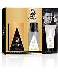 SCORPIO Collection Coffret 3 produits Gold - Eau de toilette flacon 75ml, Déodorant atomiseur 150ml et Gel crème pour visage 50ml