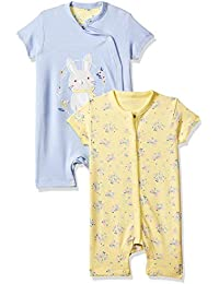 Mothercare Baby Girl's Romper Suit (Pack of 2)