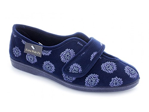 Sleepers , Chaussons pour femme Bleu - Navy Floral