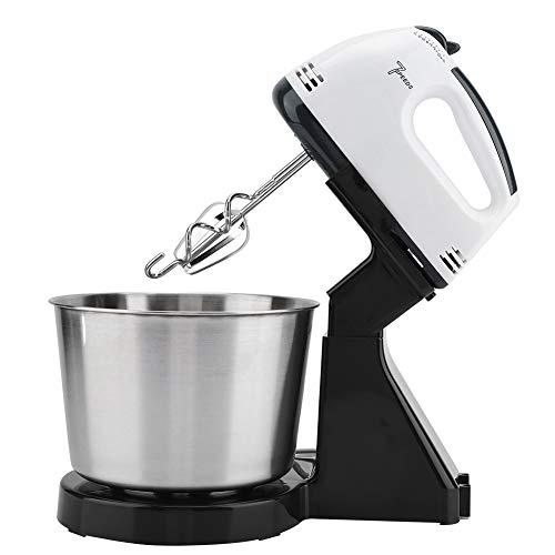 dmixer, Elektrischer Stand Mischer Handmixer aus Edelstahl mit 2 Liter Edelstahlschüssel und 2 Mischköpfe für Flauschige Schlagsahne und Kuchen mit Geschlagenem Eiweiß(Schwarz) ()