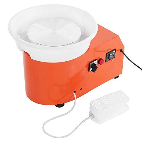 Pokerty Töpferscheibe, 350W Töpferscheibe Maschine Keramik werfen Shaping Tool mit runden Becken unabhängige Pedal für die Schule DIY Shop(EU-Stecker)