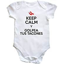 HippoWarehouse KEEP CALM Y GOLPEA TUS TACONES body bodys pijama niños niñas unisex