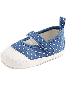 Zapatos de bebé Auxma Zapatilla de deporte dulce de la lona de Prewalker Antiskid Soft Cute Zapatos Para 3-6 6...