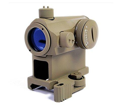 Jagd 1x24 T-1 illuminieren Rot & Grün Punkt Anblick Umfang mit 5 Ebene Helligkeit (DE) Mikro QD Schnell Freisetzung 20mm Reittier Picatinny für Taktisch Airsoft Cqb Airsoft Guns