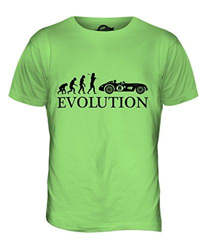 CandyMix Vintage Rennwagen Motorsport Evolution Des Menschen Herren T Shirt Limettengrün