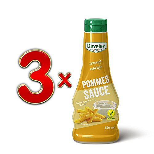 Develey cremig würzige Pommes Sauce vegan, 3er Set (3x250ml Flasche)