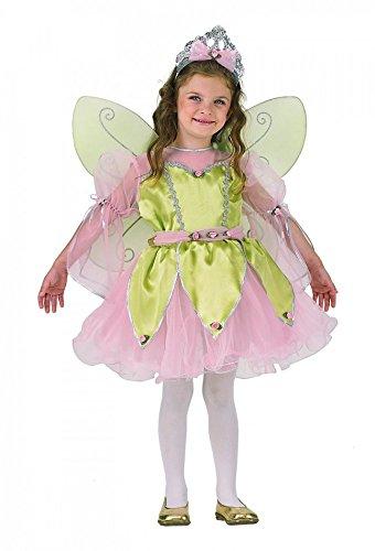 Kostüm Fee Kinder Däumelinchen Elfe Kleid Haarreif Flügel (Kostüm Kinder Fee Für Blumen)