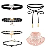 Best Necklaces 6 Piece - Romp Fashion 6 Pieces Black White Stylish Party Review