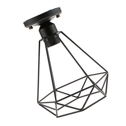 B Blesiya Vintage Draht Diamant Käfig Deckenleuchte Deckenlampe mit E27 Fassung für Wohnzimmer Schlafzimmer Esszimmer Flur Restaurant -