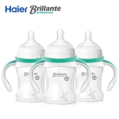 haier-baby-brillante-pp-plastic-feeding-bottles-with-hand-150ml-8oz-bpa-free-pack-of-3