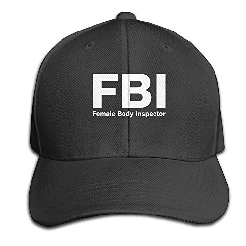 FBI Female Body Inspector Mens Peaked Hats Adjustable