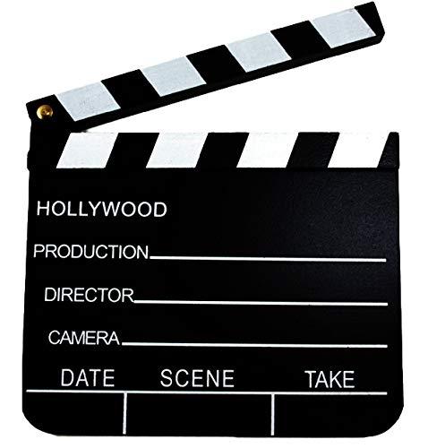 Hollywood Star Kostüm - Grill-Poker-Kostüm-Shop 2 x Regieklappe 18 x 20 Hollywood Filmklappe Regie Film Clapperboard Deko Regiesseur Fernsehen Kino