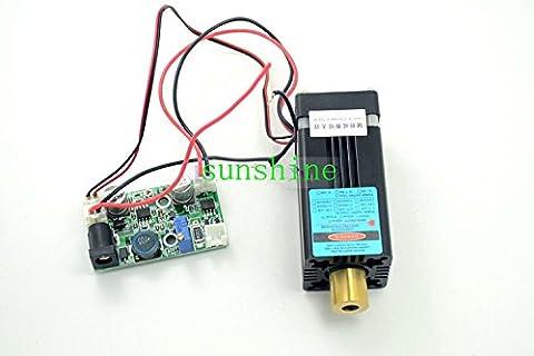 1500mw High Power Laser Diode 450nm 1.5W Violet/Blue Dot Laser Module+12V TTL+Fan Cooling+Working