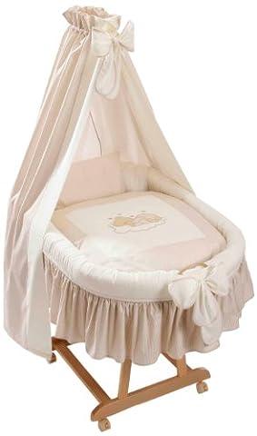 Easy Baby 485-83 Sleeping Bear Natur Parure de berceau Motif ourson endormi
