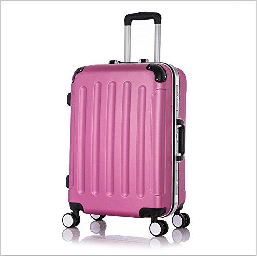 Xiuxiandianju 20 pollici universale ABS Rod custodia impermeabile resistente bagaglio di viaggio (diversi SuitcaseColour) rose red