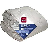 Abeil Couette Légère Anti-transpiration TopCool Polyester Blanc 220 x 240 cm