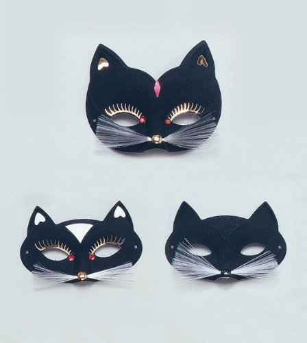 Cat Eye Mask. Large, Black
