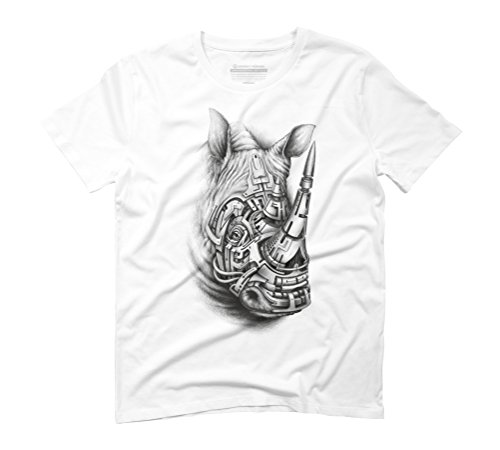 First Black rhino Men's Graphic T-Shirt - Design By Humans White