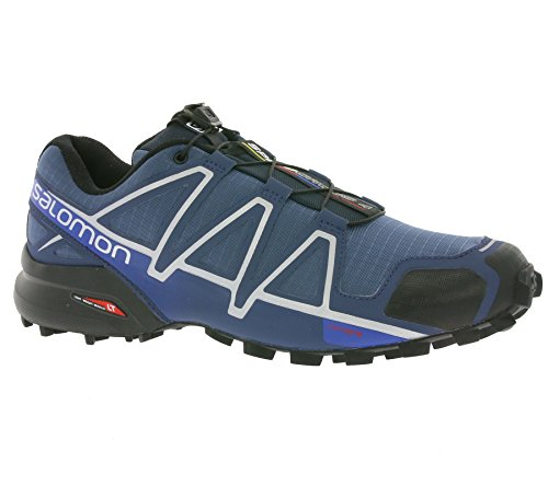 Salomon Speedcross 4, Scarpe da Trail Running Uomo, Blu (Slateblue/Black/Blue Yonder), 45 1/3 EU