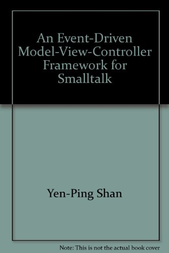 l-View-Controller Framework for Smalltalk (Model-view-controller)