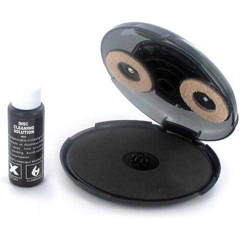 Limpiador de CD y DVD para reparación de arañazos (incluye líquido de limpieza)