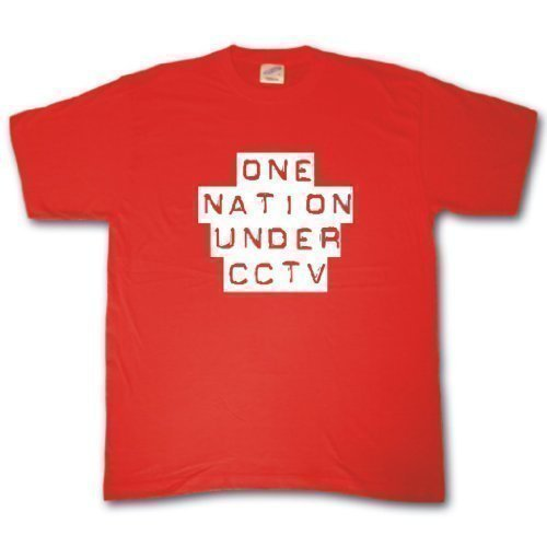 One nation unter cctv T-shirt Rot