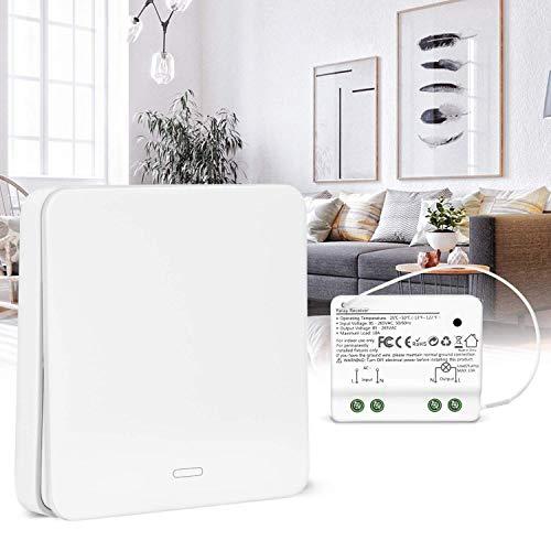 Schlafzimmer-set Kopfteil (Lichtschalter Funkschalter Set Yissvic Wireless Kinetischer Schalter mit RF-Technologie Verstärktes Signal Keine Leitungsverlegung Kein Bohren Wasserdicht 60 Jahre Lebensdauer (Verpackung MEHRWEG))