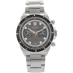 Tudor 70330N - Reloj para hombres, correa de acero inoxidable color acero
