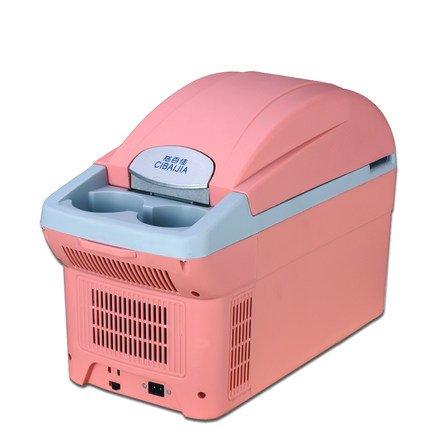 Sunjun Auto-Kühlraum des Auto Dual-Mini-Kühlschrank Auto Kühlschrank Kleine Dorm Kühlschrank kalte und warme Box ( Farbe : Pink )