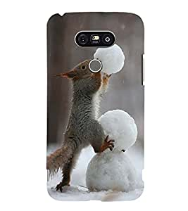 Vizagbeats Squirrel Building Snowman Back Case Cover for LG G5