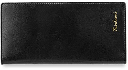 Uomo–Portafoglio Custodia per carte di Organizer per documenti, nero (nero) - 497
