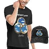 Photo de CINDYO Polos,Chemises,Basement Jaxx Junto T Shirt Mens Tee T-Shirts Vintage Jeans Baseball Cap Hat par CINDYO-Tee