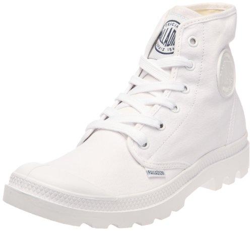 Palladium Pampa HI Blanc, Unisex - Erwachsene Halbstiefel, Weiß (White/white), 45 EU