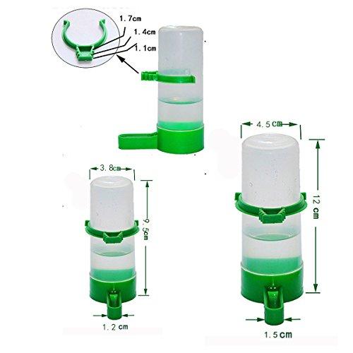 ASOSMOS 65/150ml Vogel Wasserspender Wasserflasche Trinkflasche mit Clip für Aviary Budgie Lovebird Kanarienvogel