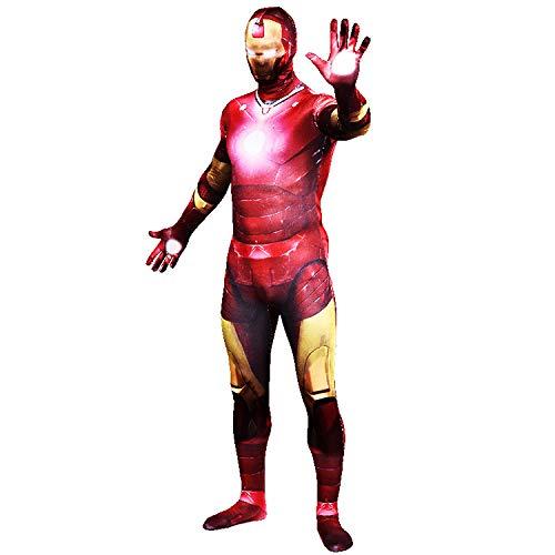 FYBR Premium Iron Man SuperSkin Kostüm - Erwachsene Unisex Herren & Frauen Second Skin & Avengers Zentai Onesie Kleidung Outfit Halloween Lycra - Größe S