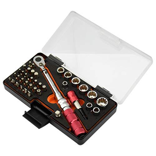 A0127 38 piezas/Juego 1 10 Nm 1/4 llave dinamométrica