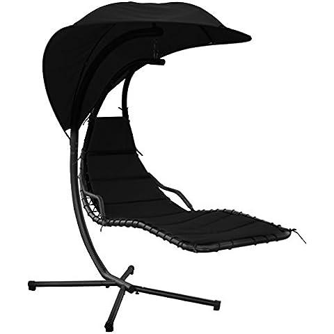 silla tumbona columpio helicptero para jardn negro